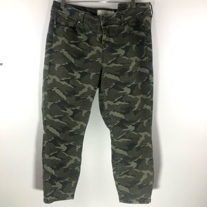 Torrid • Camo Army Cropped Skinny Jeans